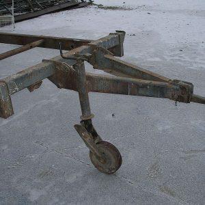 Das alte Stützrad ...