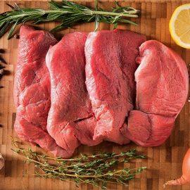 Kalb- und Schweinefleisch – frisch vom Schlachter